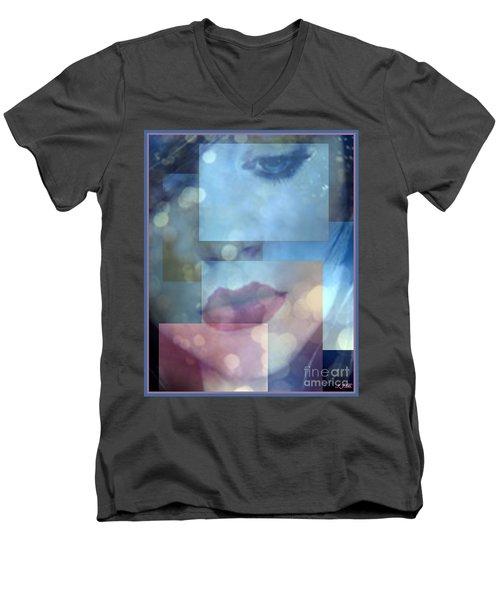 Compartmentalised Men's V-Neck T-Shirt