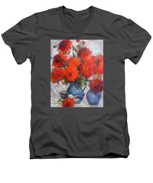 Complementary - Original Impressionist Painting - Still-life - Vibrant - Contemporary Men's V-Neck T-Shirt