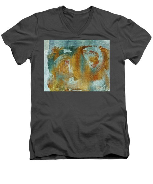 Composix 02a - V1t27b Men's V-Neck T-Shirt by Variance Collections