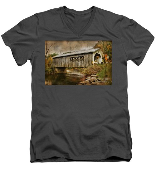 Comstock Bridge 2012 Men's V-Neck T-Shirt