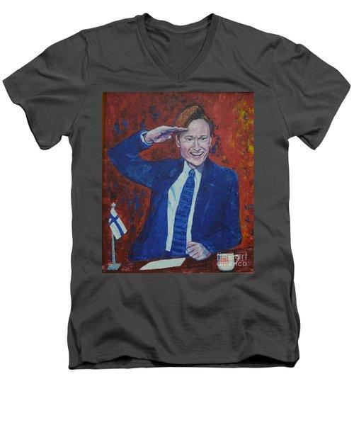 Conan O'brien Flagging Finland Men's V-Neck T-Shirt