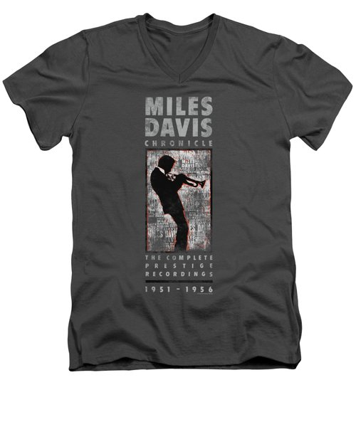 Concord Music - Miles Silhouette Men's V-Neck T-Shirt