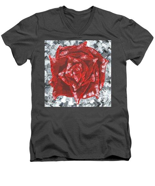Concrete Rose  Men's V-Neck T-Shirt
