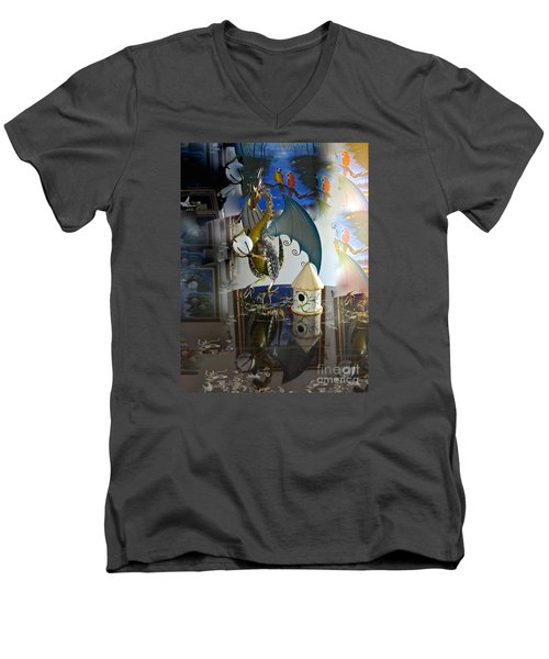 Conglomerate Or Camouflage Men's V-Neck T-Shirt