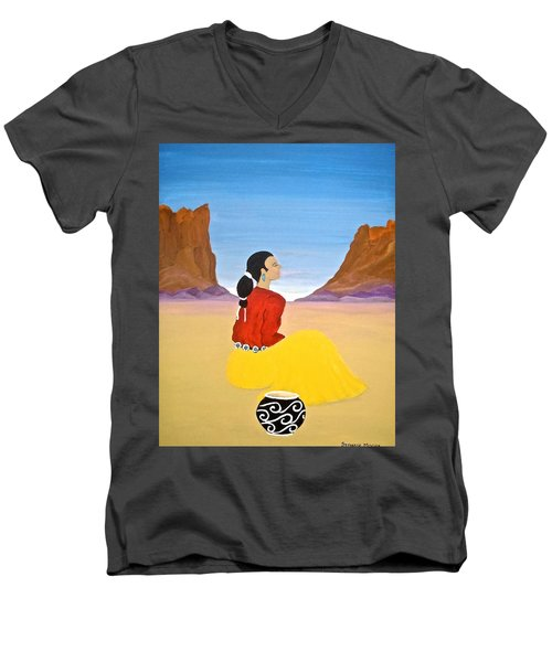 Contemplation Men's V-Neck T-Shirt by Stephanie Moore