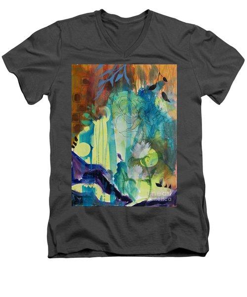 Continuum Men's V-Neck T-Shirt by Robin Maria Pedrero