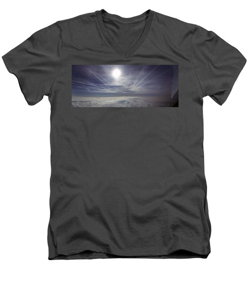 Contrail Panorama Men's V-Neck T-Shirt