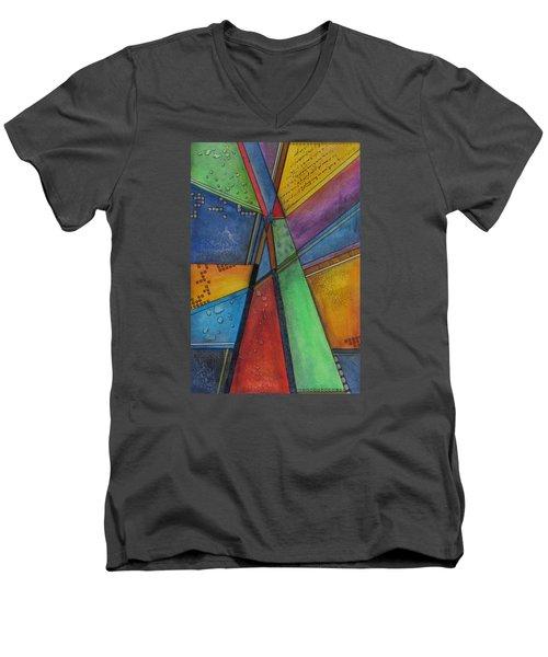Convergence Men's V-Neck T-Shirt by Nicole Nadeau