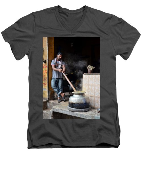 Cooking Breakfast Early Morning Lahore Pakistan Men's V-Neck T-Shirt