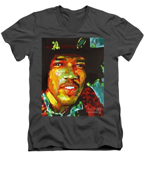 American Legend Jimi Hendrix  Men's V-Neck T-Shirt