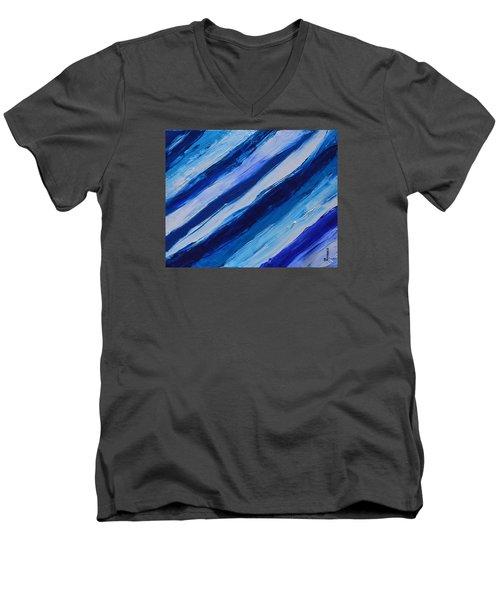 Cool Azul Men's V-Neck T-Shirt