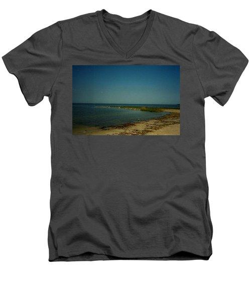 Cool Day For A Swim Men's V-Neck T-Shirt by Amazing Photographs AKA Christian Wilson