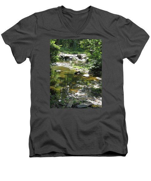 Men's V-Neck T-Shirt featuring the photograph Cool Waters by Ellen Levinson