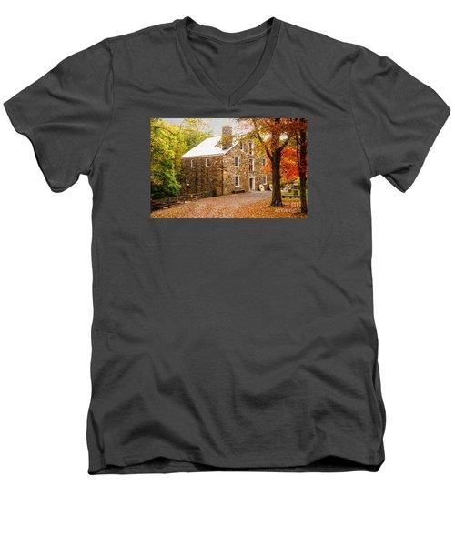 Cooper Gristmill Men's V-Neck T-Shirt by Debra Fedchin