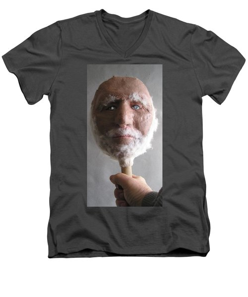 Coot On A Stick Men's V-Neck T-Shirt by Roger Swezey
