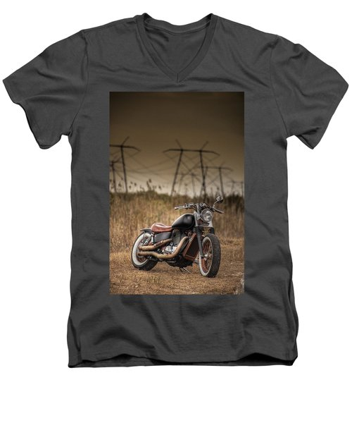 Copper Chopper Men's V-Neck T-Shirt