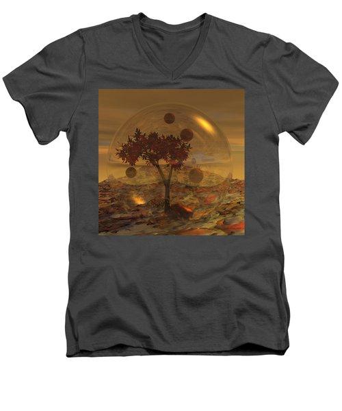 Copper Terrarium Men's V-Neck T-Shirt by Judi Suni Hall
