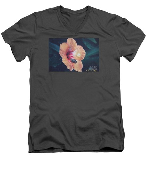 Men's V-Neck T-Shirt featuring the photograph Coqui  by The Art of Alice Terrill