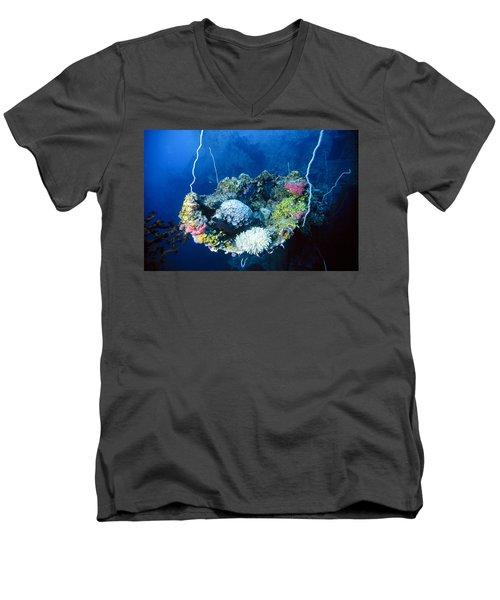 Corals On Ship Wreck Men's V-Neck T-Shirt