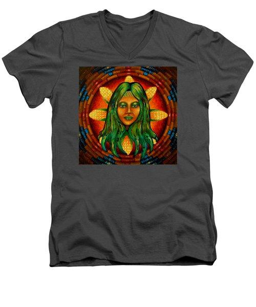 Corn Maiden Men's V-Neck T-Shirt