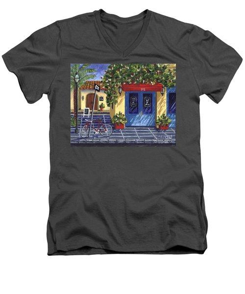 Corner Store Men's V-Neck T-Shirt by Val Miller