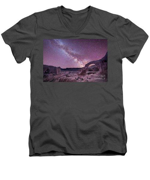 Corona Arch Milky Way Men's V-Neck T-Shirt