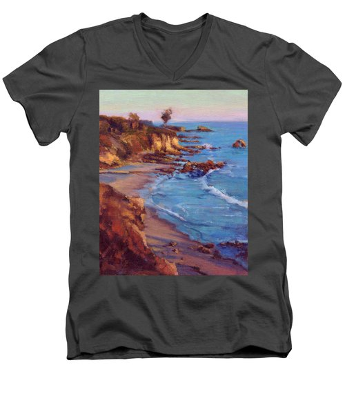 Corona Del Mar Newport Beach California Men's V-Neck T-Shirt