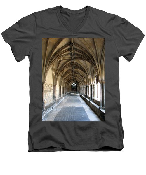 Men's V-Neck T-Shirt featuring the photograph Corridor Of Arches by Stephanie Grant