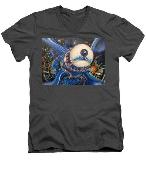 Corsair Radial Men's V-Neck T-Shirt