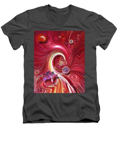 Cosmic Waves Men's V-Neck T-Shirt
