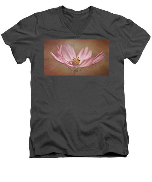 Men's V-Neck T-Shirt featuring the photograph Cosmos by Ann Lauwers