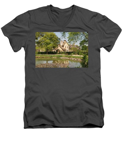 Cottage In The Hameau De La Reine Men's V-Neck T-Shirt