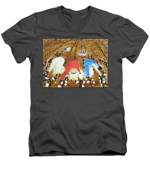 Cotton Picking People Men's V-Neck T-Shirt