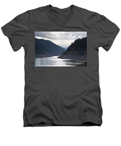 Men's V-Neck T-Shirt featuring the photograph Cougar Reservoir by Belinda Greb