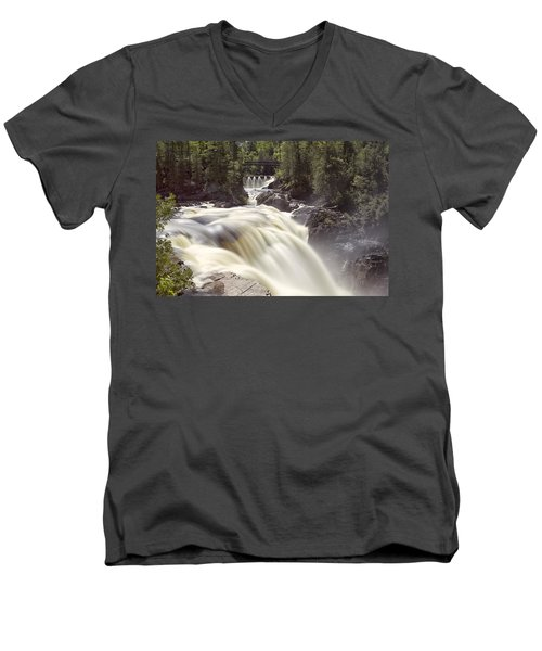 Coulonge Falls Men's V-Neck T-Shirt by Eunice Gibb