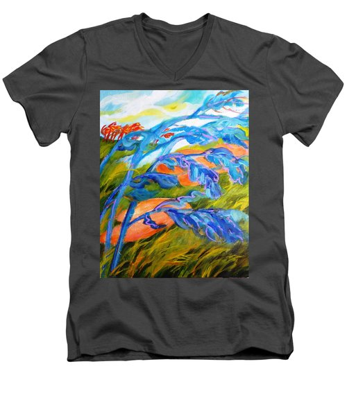Count The Wind Men's V-Neck T-Shirt by Betty M M   Wong