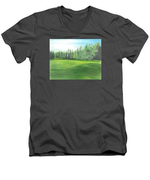Country Club Men's V-Neck T-Shirt by Troy Levesque