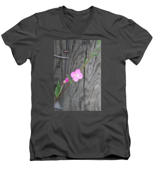 Men's V-Neck T-Shirt featuring the photograph Country Flower  by Amy Gallagher