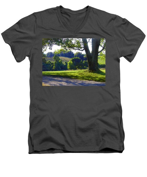 Country Landscape Men's V-Neck T-Shirt
