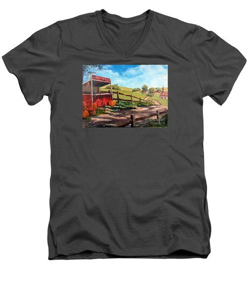 Country Life Men's V-Neck T-Shirt by Lee Piper