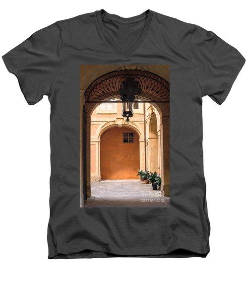 Courtyard Of Siena Men's V-Neck T-Shirt