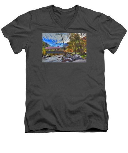 Covered Bridge Men's V-Neck T-Shirt