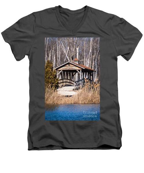 Covered Bridge Men's V-Neck T-Shirt by Patrick Shupert