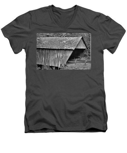 Covered Bridge Men's V-Neck T-Shirt by Tara Potts