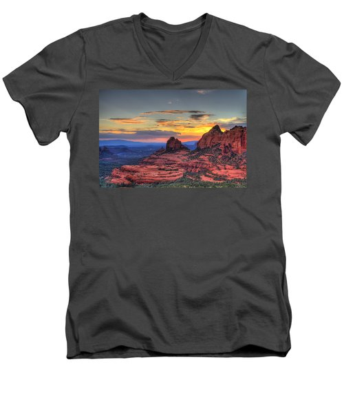 Cow Pies Sunset Men's V-Neck T-Shirt