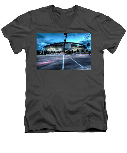 Cowboys Stadium Pregame Men's V-Neck T-Shirt by Jonathan Davison