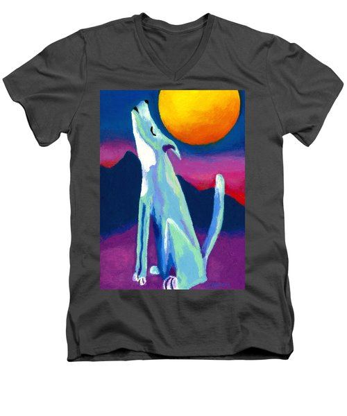 Coyote Azul Men's V-Neck T-Shirt by Stephen Anderson