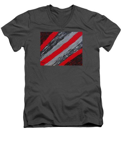 Cozy Afghan Men's V-Neck T-Shirt by Donna  Manaraze