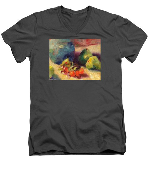 Crab Apples And Pears Men's V-Neck T-Shirt by Michelle Abrams
