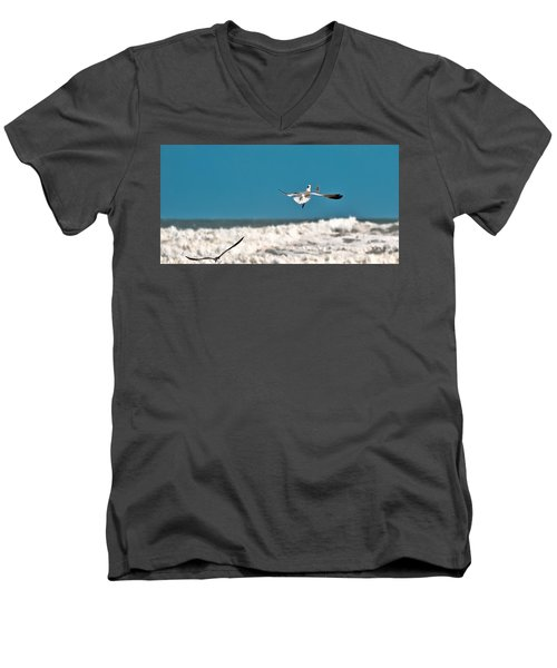 Men's V-Neck T-Shirt featuring the photograph Cracker Tracker by DigiArt Diaries by Vicky B Fuller